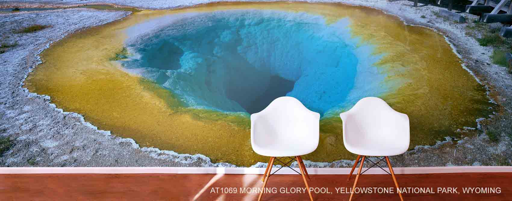 Morning Glory Pool, Yellowstone National Park, Wyoming Wallpaper Mural