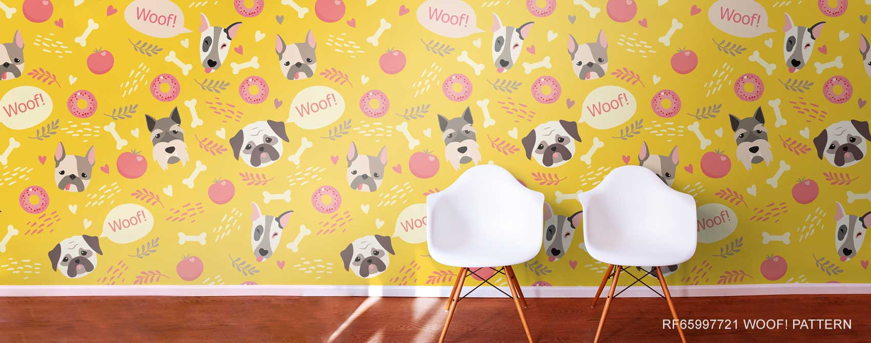 woof pattern wallpaper