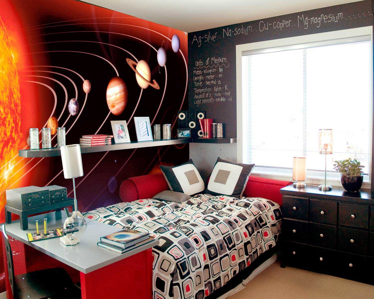 outer space wall mural for kids room