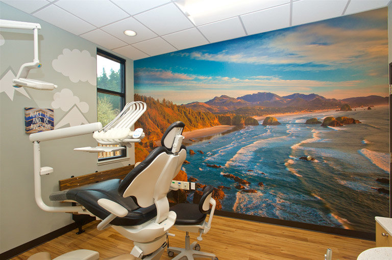 Cannon Beach View Wall Mural in dental office
