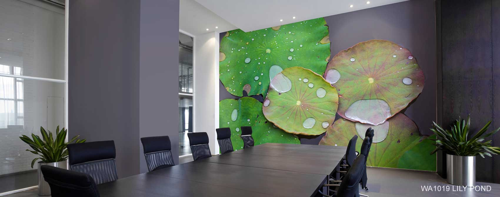 Lily Pond Wallpaper Mural