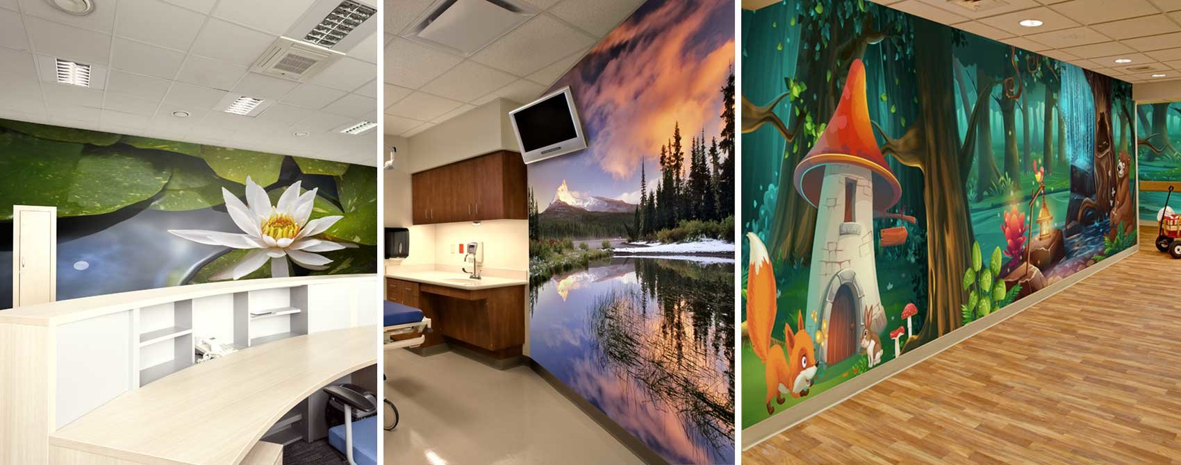 wall murals in health care settings