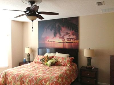 palm sunset wall mural review
