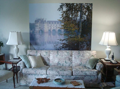 Chateau De Chenonceau In Mist Mural review