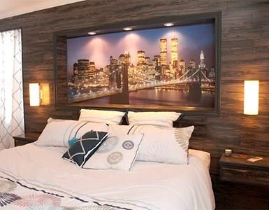 New York Wall Mural in Frame