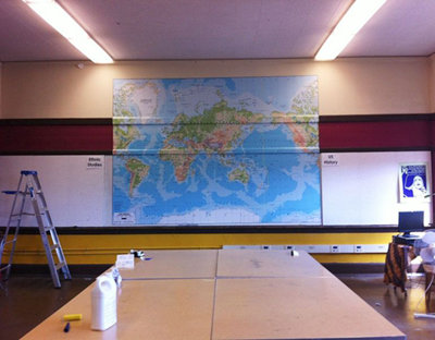 EGI World Map Mural