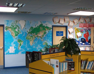 EGI World Map Wallpaper Mural