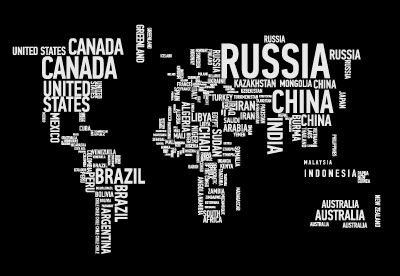 word cloud wall map wallpaper