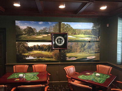 golf course wall mural