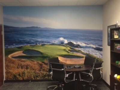 golf course wallpaper mural
