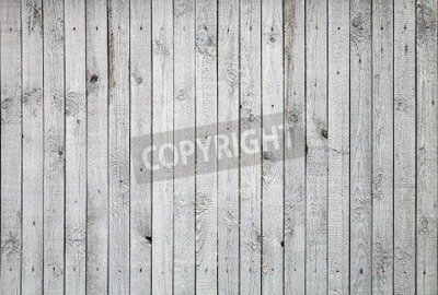 White Painted Old Wooden Boards Mural