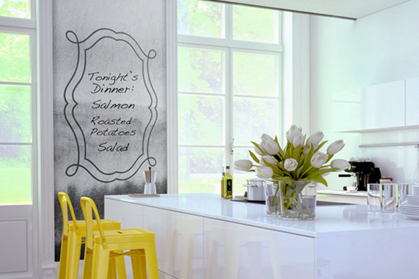 Dry Erase Mural in a kitchen