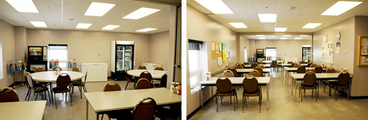 before photos of cafeteria room