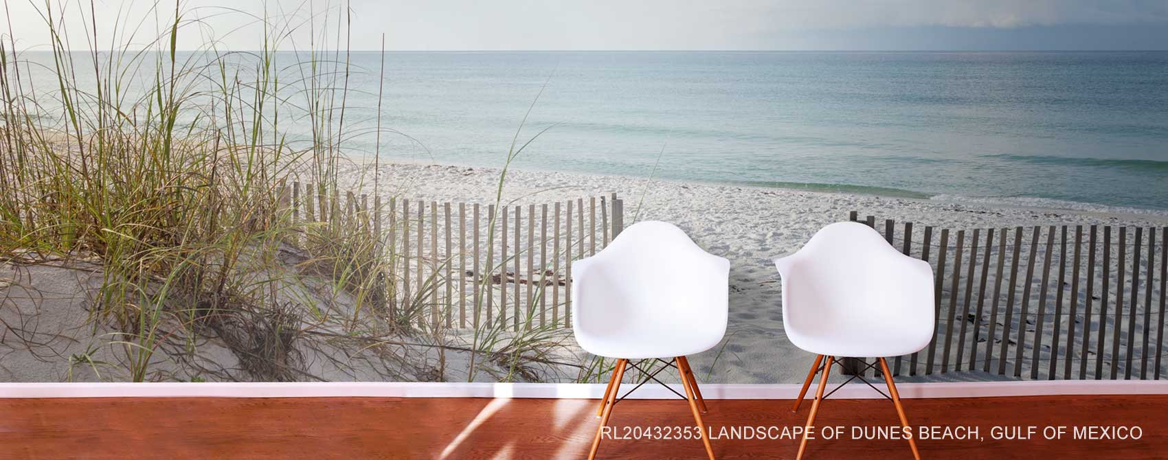 Landscape of Dunes Beach, Gulf of Mexico Wallpaper Mural