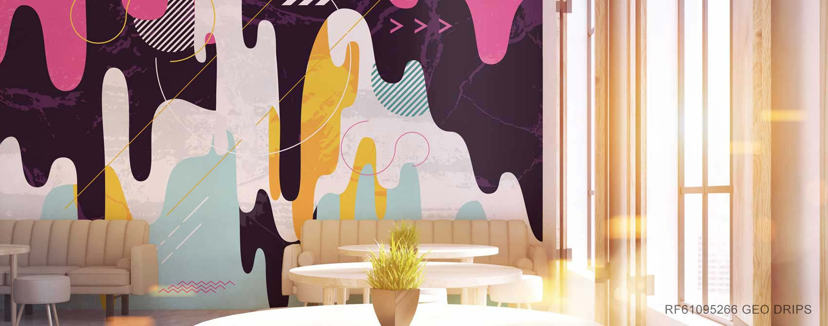 Geo Drips Wallpaper Mural