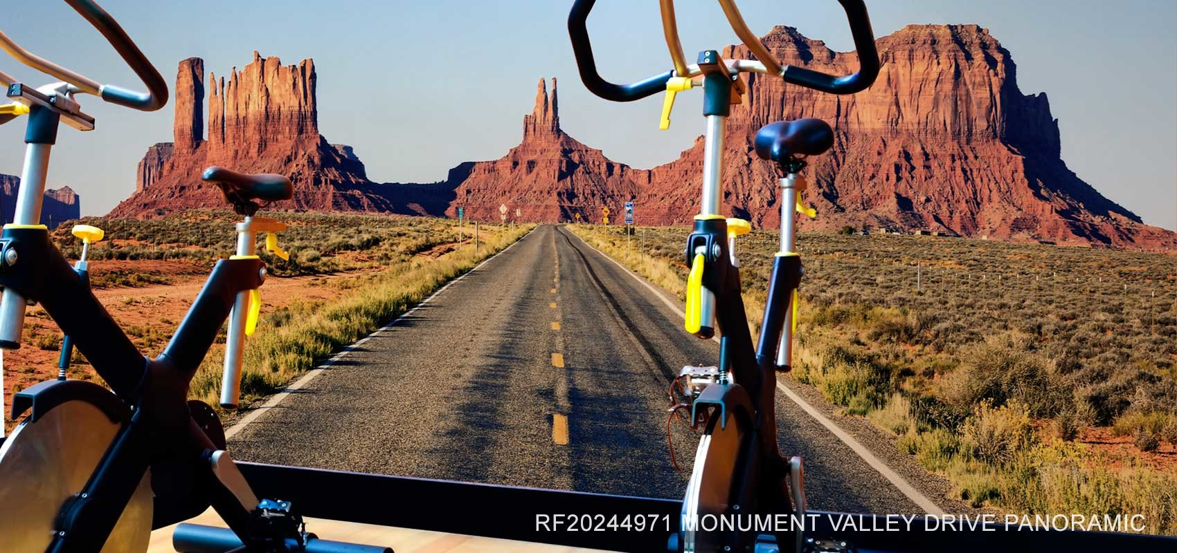 Monument Valley Drive Panoramic Wall Mural