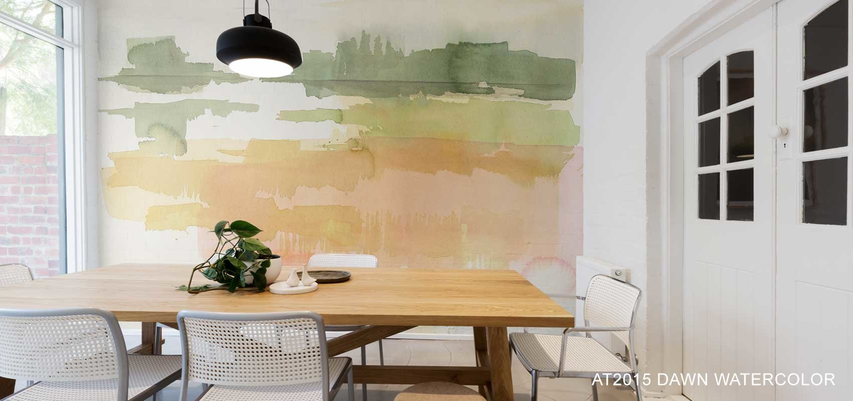 Dawn Watercolor Wallpaper Mural