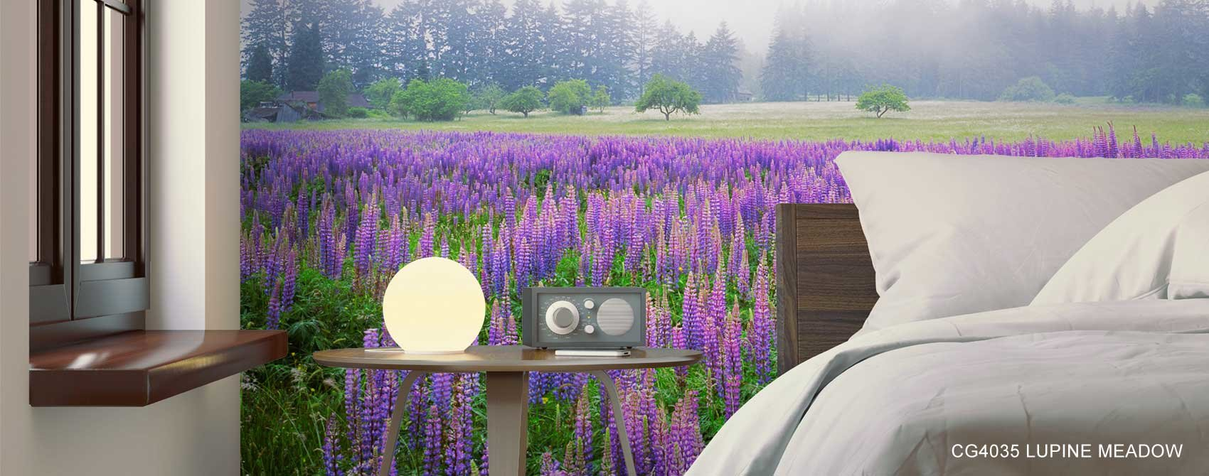 Lupine Meadow Wallpaper Mural