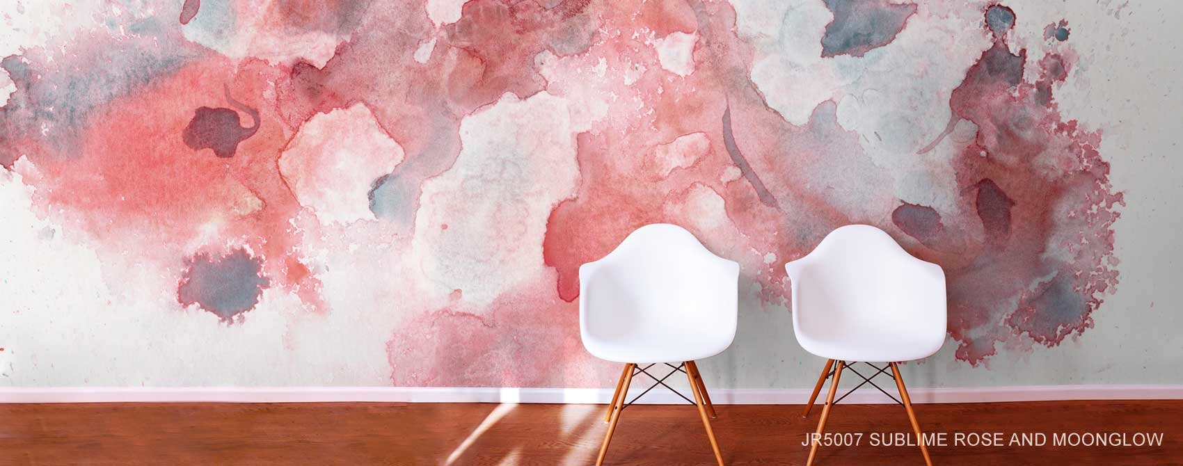 Sublime Rose and Moonglow Wall Mural