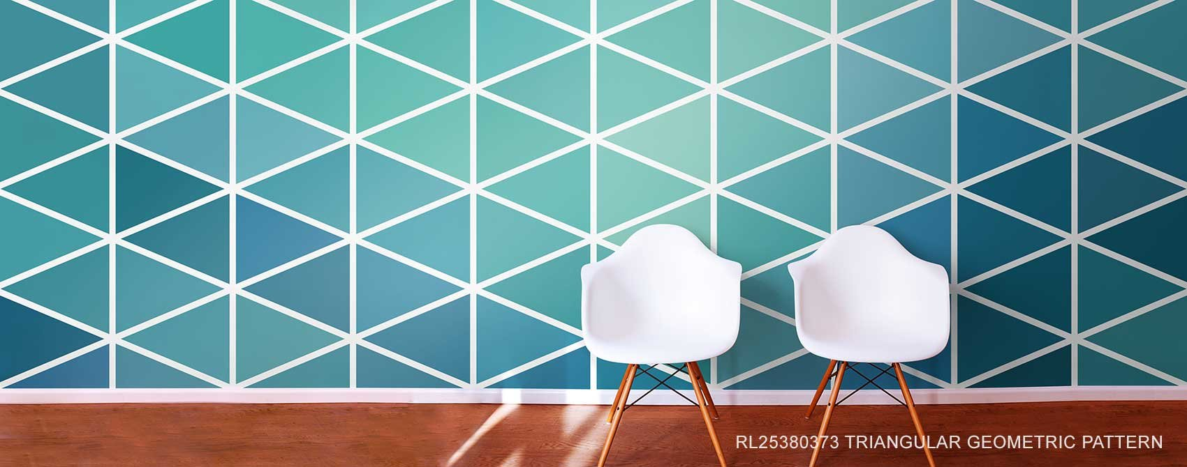 Triangular Geometric Pattern Wallpaper
