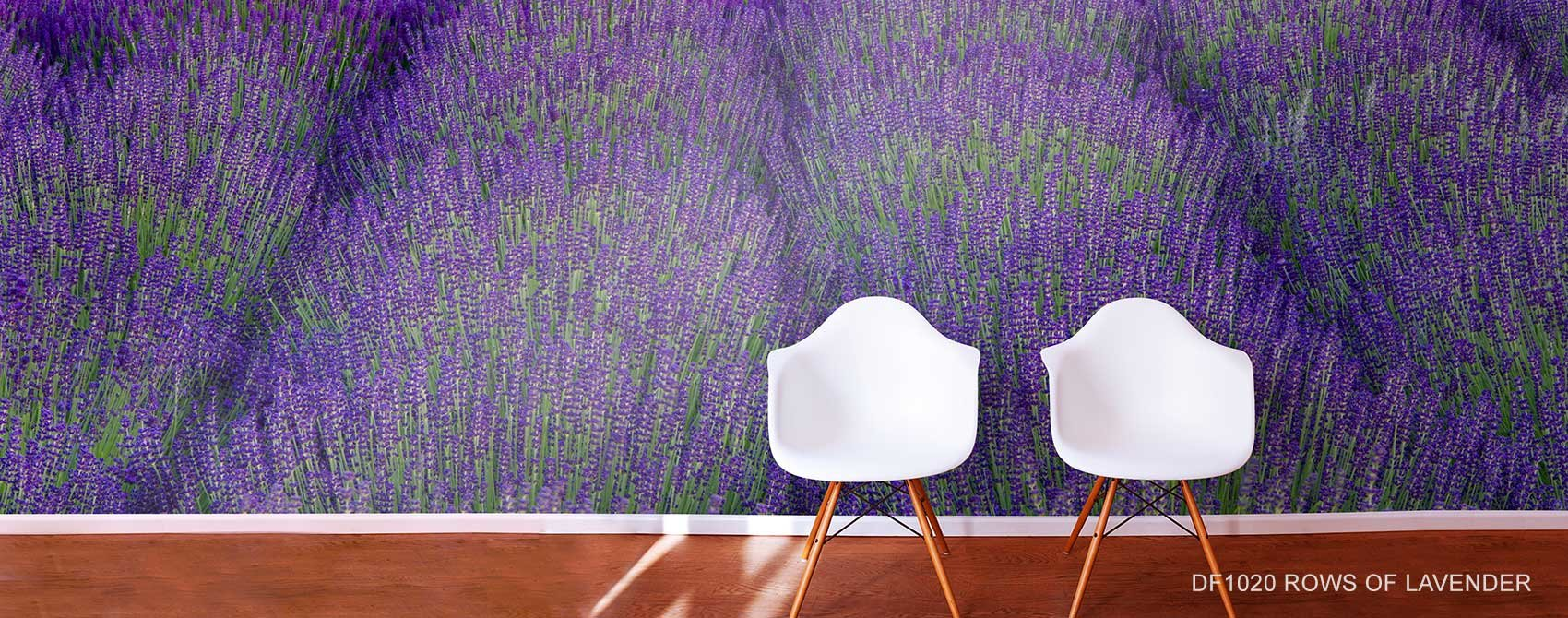 Rows Of Lavender Wall Mural