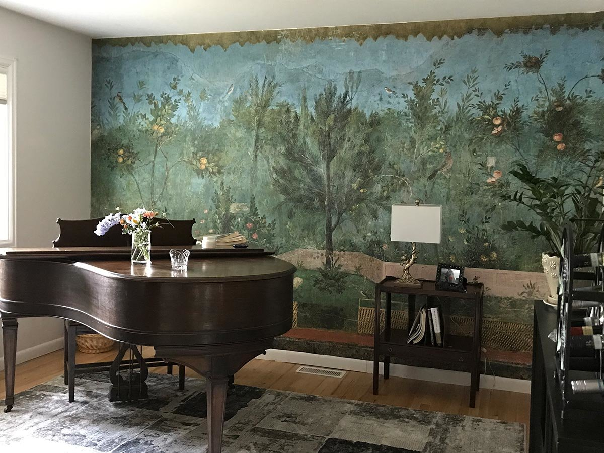Garden Paintings From Villa of Livia wall mural in living room
