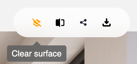 clear surface icon