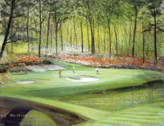 12th Hole At Augusta Mural Wallpaper