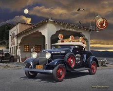 '32 Roadster At Jakes Wall Mural
