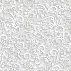3D Floral Pattern Wallpaper