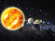 3D Illustration Of Our Solar System Wall Mural