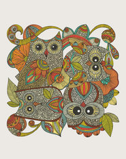 4 Owls Mural Wallpaper