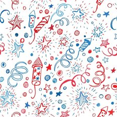 4th Of July Doodle Pattern Wallpaper