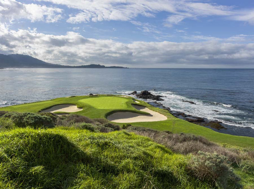 7th Hole at Pebble Beach Golf Links Mural Wallpaper