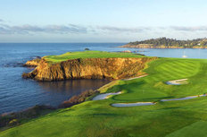 8th Hole at Pebble Beach Golf Links Wall Mural