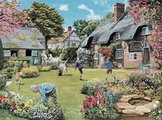 A Cottage Garden Wall Mural
