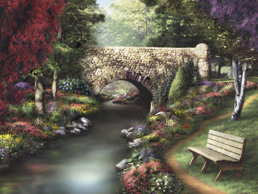 A Day In The Park Wallpaper Mural