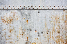 Rusted Rivets and Metal Wall Mural