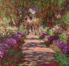 A Pathway In Monet's Garden Wallpaper Mural