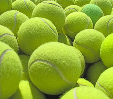 Tennis Ball Pile Mural Wallpaper