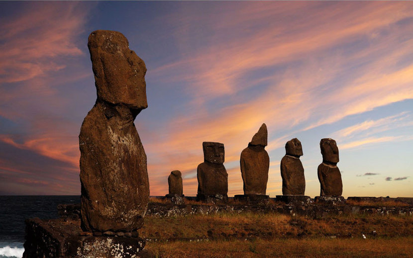 Easter Island Moais Sunset
