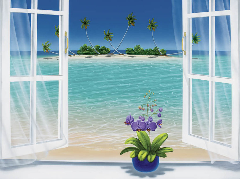 A Room With A View Wall Mural