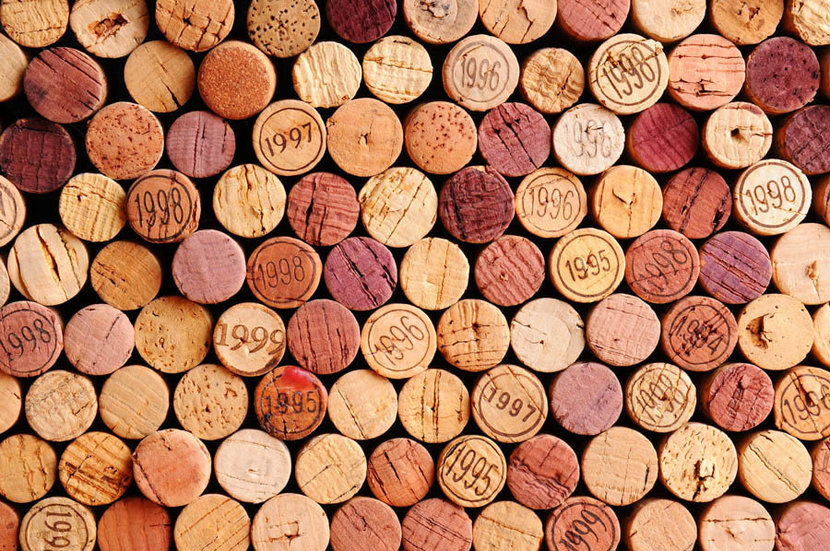 A Wall of Wine Corks Mural Wallpaper