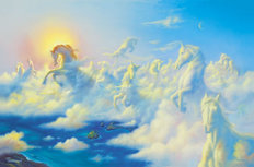 Above The Clouds Mural Wallpaper