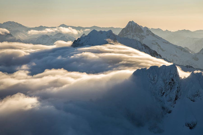 Above The Clouds, North Cascades Wallpaper Mural