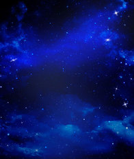 Blue Starry Sky Mural Wallpaper