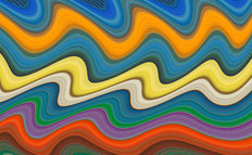 Abstract Boat Stripes Mural Wallpaper