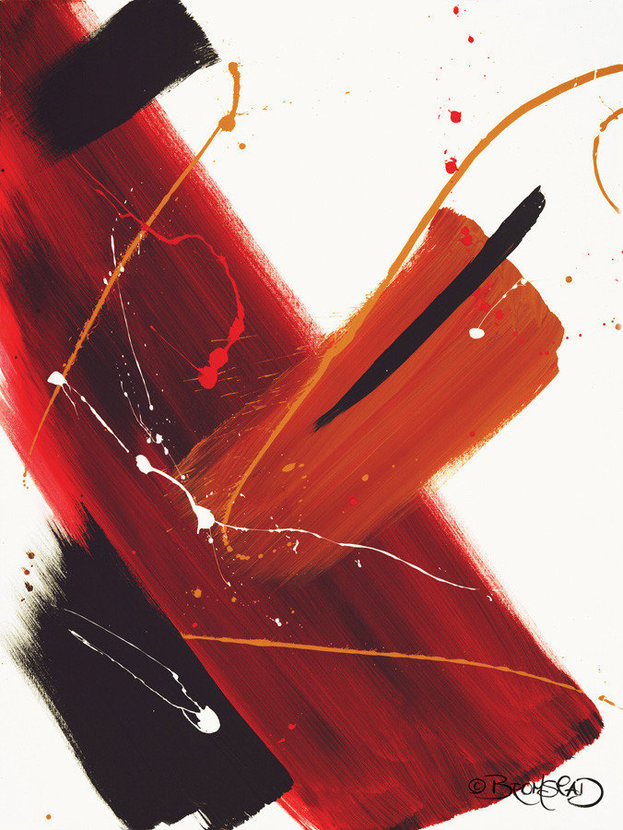 Abstract Cabernet Wall Mural