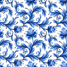 Abstract Floral Pattern With Folk Art Flowers Wallpaper