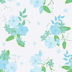 Blue Blossoms Wallpaper